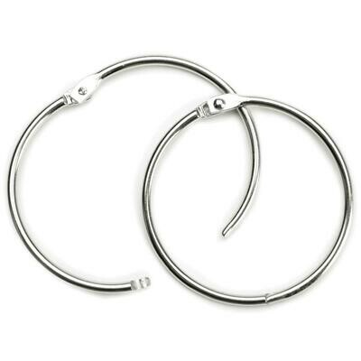 "Book Hinged Rings - 12 mm (1/2"")Four Pack"