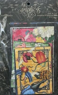 Graphic 45 - Flutter Collection  Journalling & Ephemera Cards