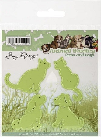 Find It Trading - Amy Design -Animal Medley - Cats & Dogs Die