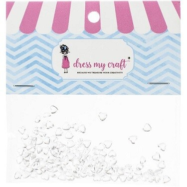 Dress My Craft - Heart Water Droplets - 4mm - 100 Pack