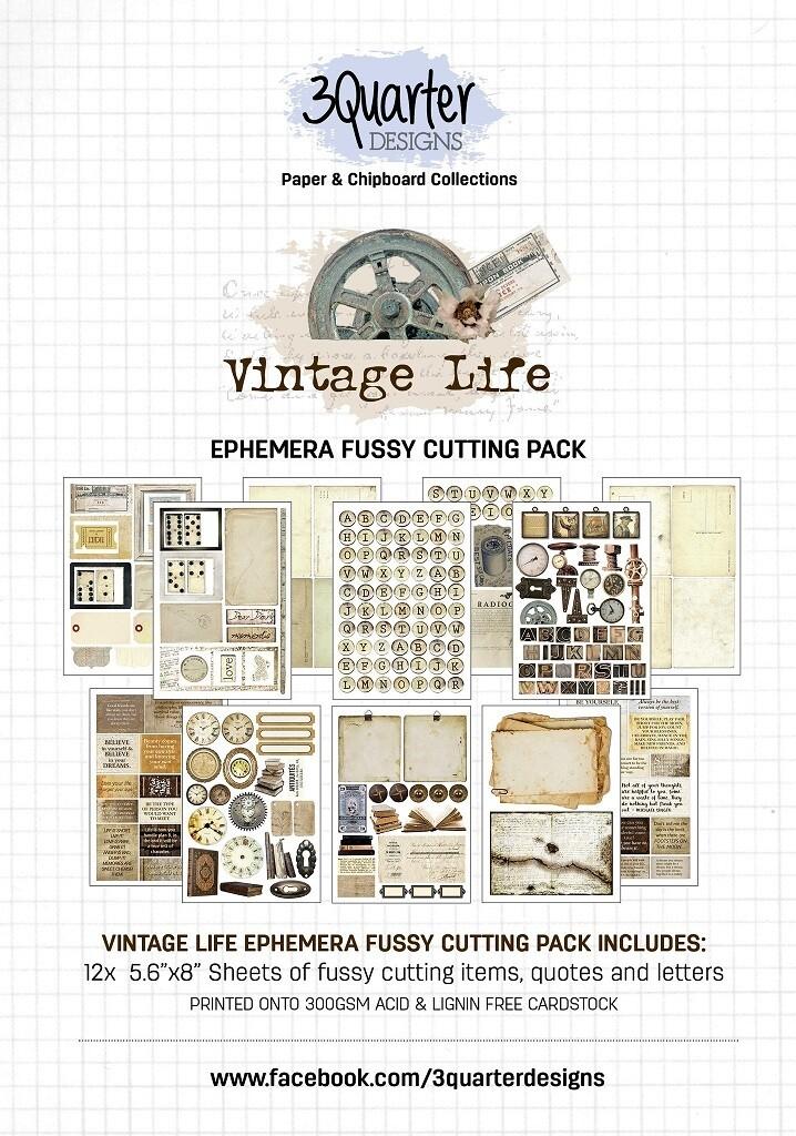 3 Quarter Designs - Ephemera Fussy Cutting Pack - Vintage Life