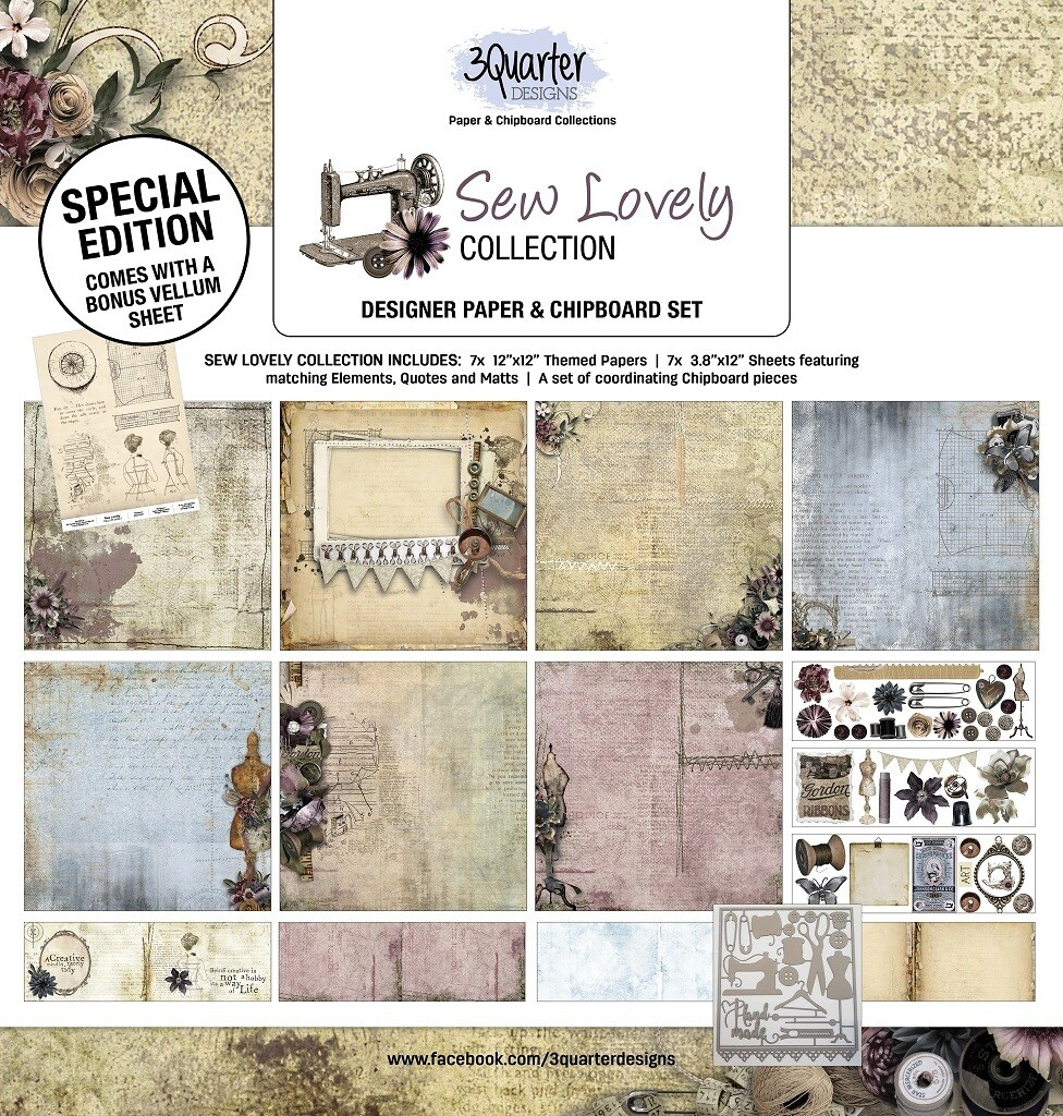 3 Quarter Designs 12 x 12 Collections -Sew Lovely