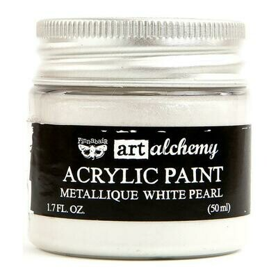Prima - Art Alchemy Metallique - White Pearl Acrylic Paint