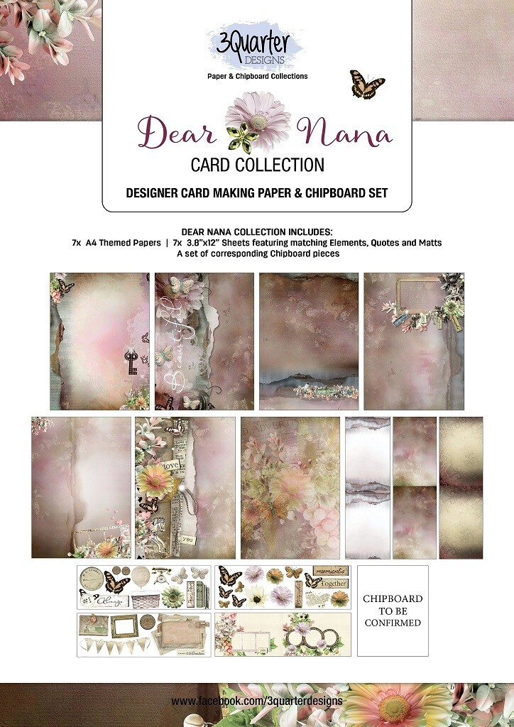 3 Quarter Designs - Card Making Kit - Dear Nana