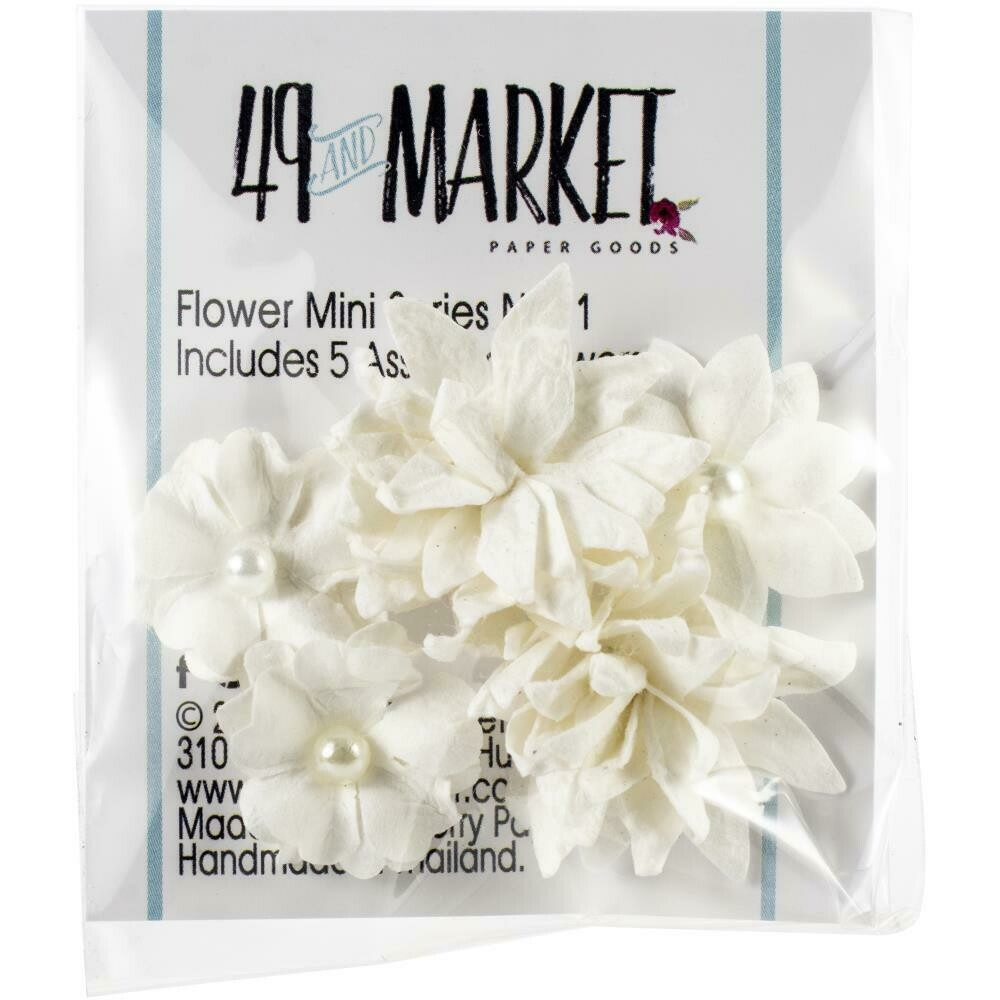 49 and Market - Mini Flower Packs (5 pieces) Cloud