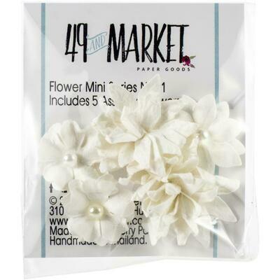49 & Market - Cloud - Mini Flower Packs (5 pieces)