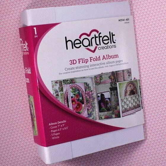 "Heartfelt Creations - 3D Flip Fold Albums 7"" x 9"" White"