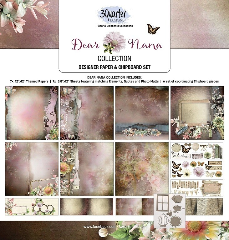 3 Quarter Designs 12 x 12 Collections -Dear Nana
