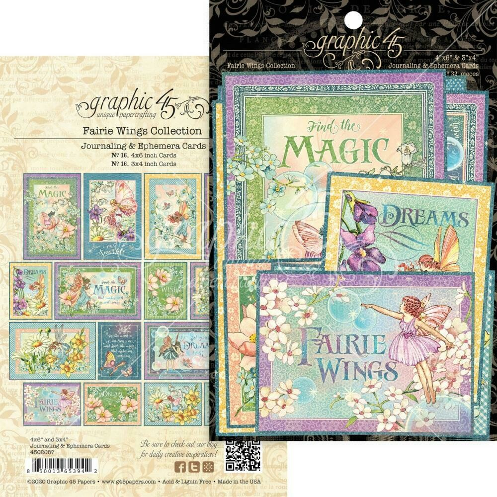 Graphic 45 - Fairie Wings Journalling & Ephemera Pck