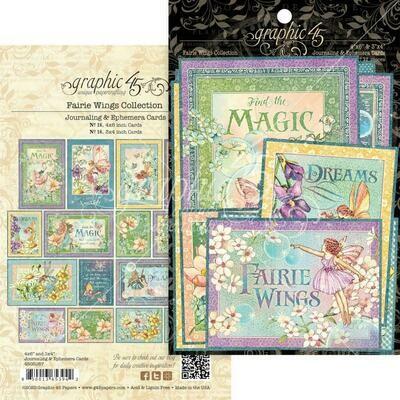 Graphic 45 - Fairie Wings Journalling & Ephemera Pck