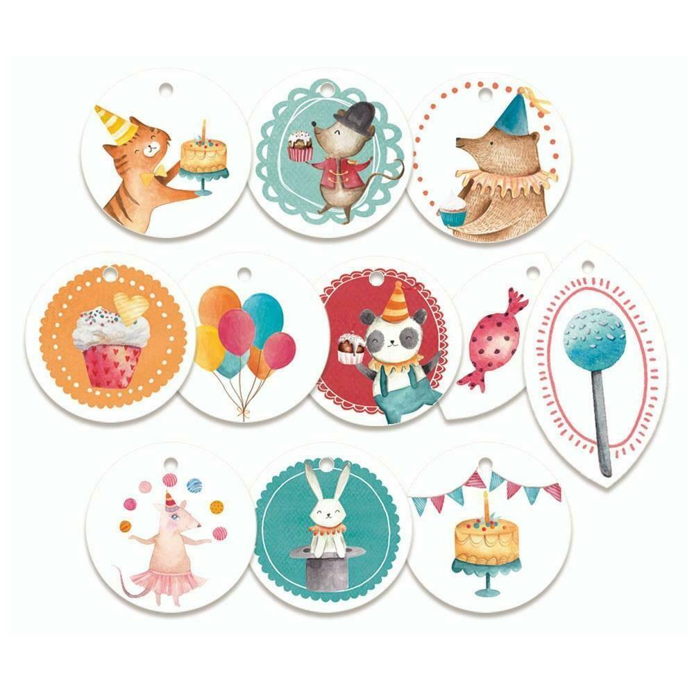 P13 - Happy Birthday Decorative Round Tags