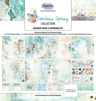 3 Quarter Designs 12 x 12 Collections -Cerulean Spring