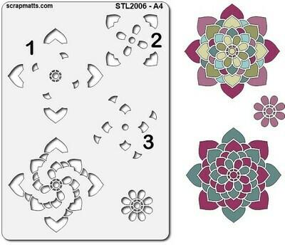 Scrapmatts Stencil - A4 Mandala