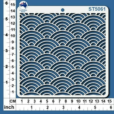 Scrapmatts Stencil - Scallop Pattern  ST5061