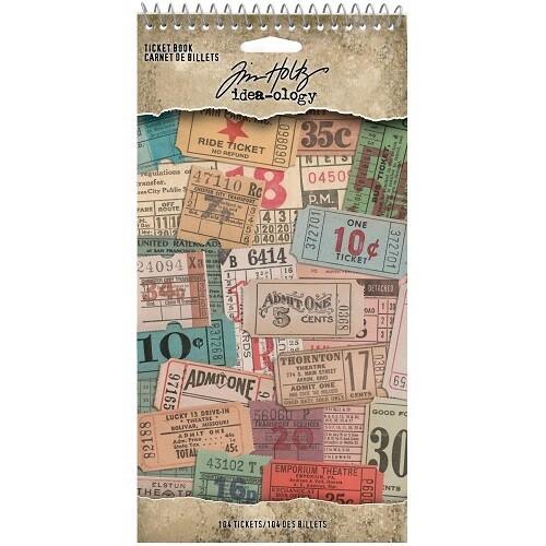 Tim Holtz - Idea Ology - Ticket Book -TH94036 - 104 pcs