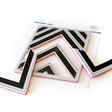 PinkFresh Studios Stamp - Nested Chevrons - 9 pcs