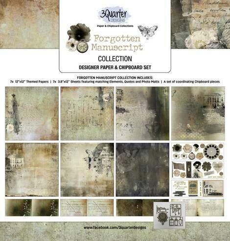 3 Quarter Designs  -Forgotten Manuscripts  12 x 12 Collection