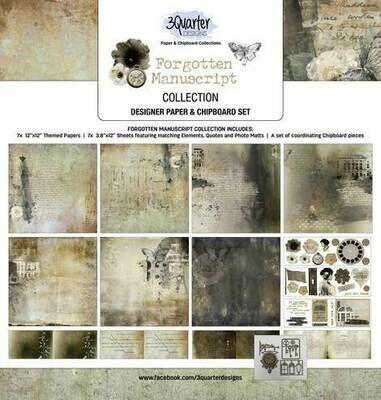 3 Quarter Designs - 12 x 12 Collections - Forgotten Manuscripts