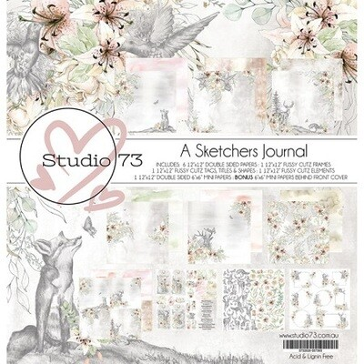 Studio 73 - A Sketchers Journal-  12 x 12 Paper Collection