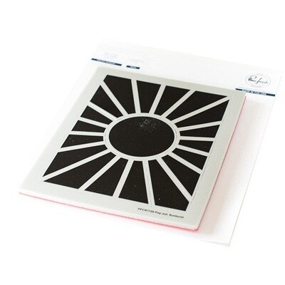 PinkFresh Studios -Pop Out Sunburst Background Stamp- A2 - PFCR1720