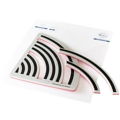 PinkFresh Studios - Pop Out Rainbow Background Stamp-  PFCR1420