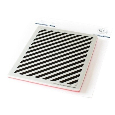 PinkFresh Studios - Diagonal Stripes Stamp - PFCR1520