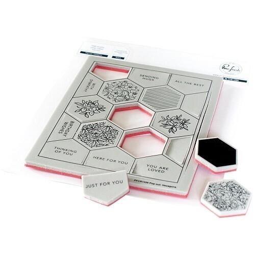 PinkFresh Studio - Pop Out Hexagons Background Stamp- PFCR1320