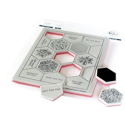 PinkFresh Studio - Pop Out Hexagons Background Stamp- PFCR1320