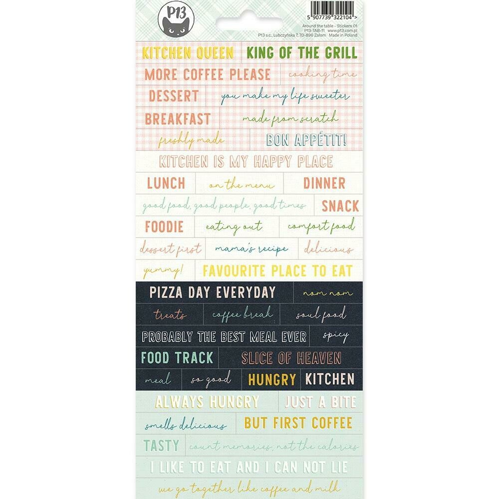 P13 - Around The Table Word Stickers