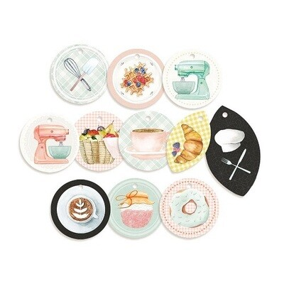 P13 - Around The Table - Decorative Tags  11pcs