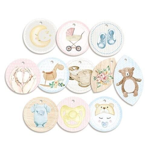 P13 - Baby Joy - Decorative Tags  - 11pcs