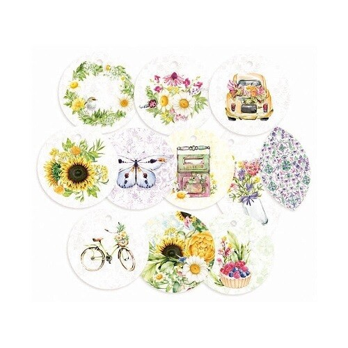 P13 - The Four Seasons Summer - Decorative Tags  11pcs