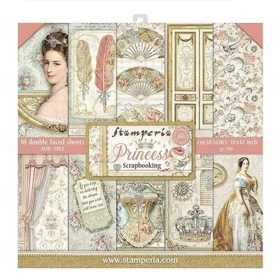 Stamperia - Princess 12 x 12 Paper Collection - 10 Sheets