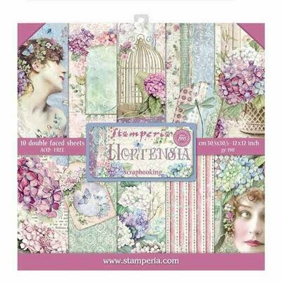 Stamperia - Hortensia - 12 x 12 Paper Collection - 10 Sheets