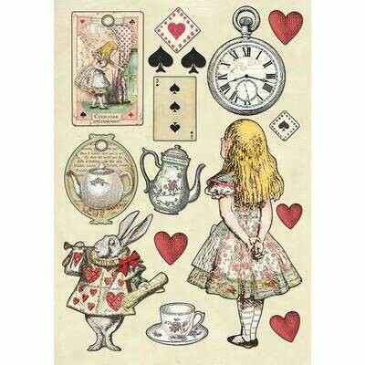 Alice -  - A5 Wooden Shapes