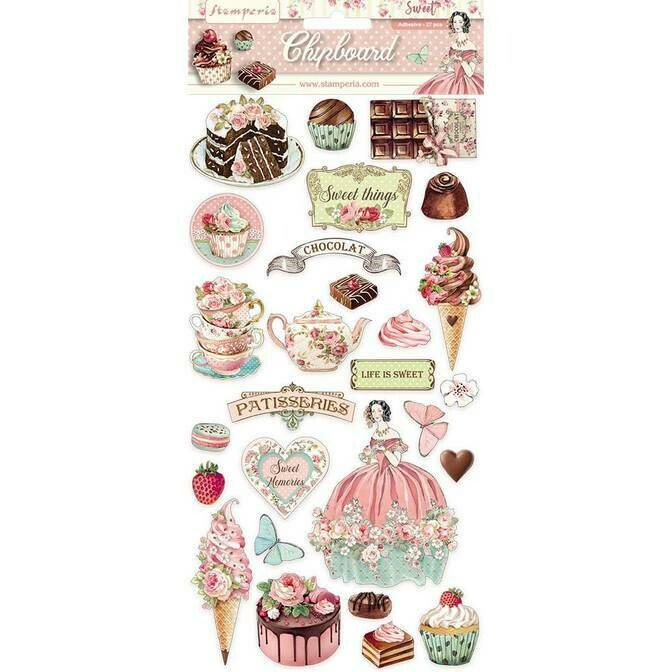 Stamperia - Sweety Chipboard Set - 27 pieces