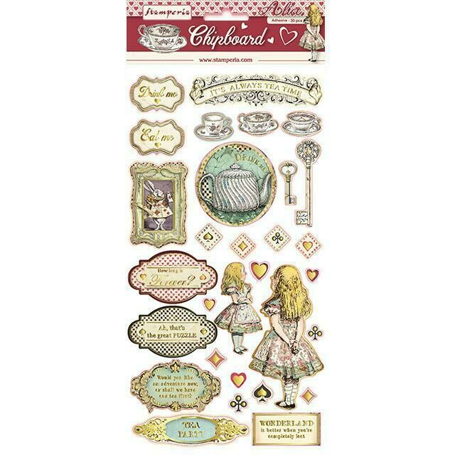 Stamperia - Alice Collection - Die Cuts - 30 pieces