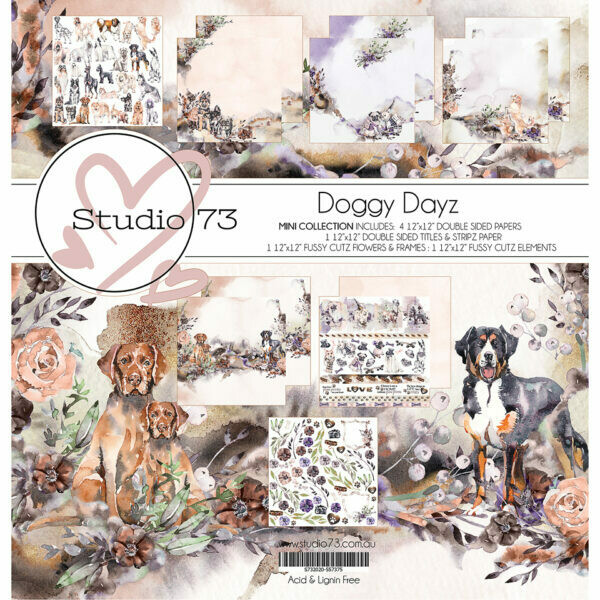 Studio 73 - Doggy Dayz Mini -  12 x 12 Paper Collection