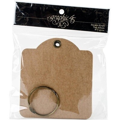 Graphic 45 - Square Kraft Tags - 9 pcs