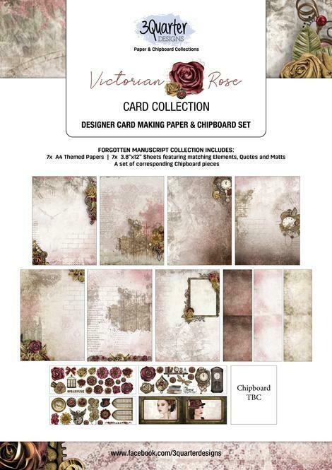 3 Quarter Designs - Card Making Kit - Victorian Rose