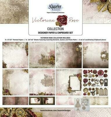 3 Quarter Designs - 12 x 12 Collections - Victorian Rose