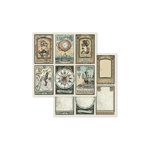 Stamperia - Voyages Fantastic Card printed paper
