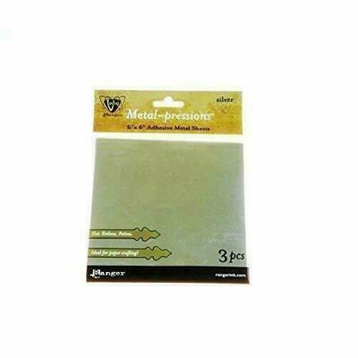 Vintaj - Metal Pressions Adhesive  Silver Foil Sheets - 3 Pcs
