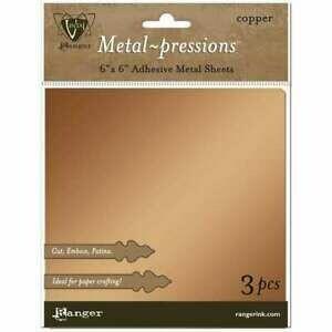Vintaj - Metal Pressions Adhesive  Copper Foil Sheets - 3 Pcs
