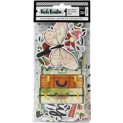 Vicki Boutin - Lets Wander 50 Pce Ephemera Pack