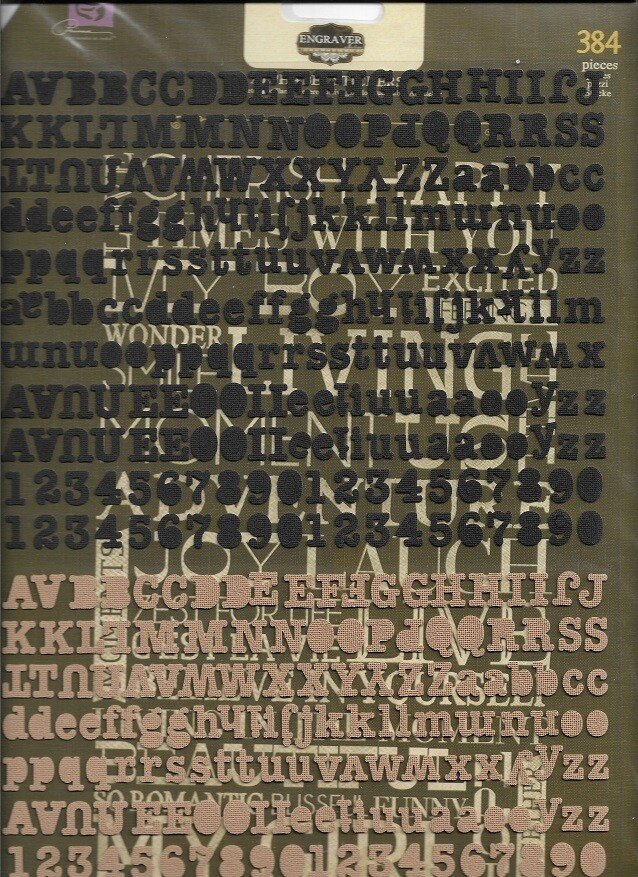 Prima - Engraver Self Adhesive Canvas Alphabets - 384pc