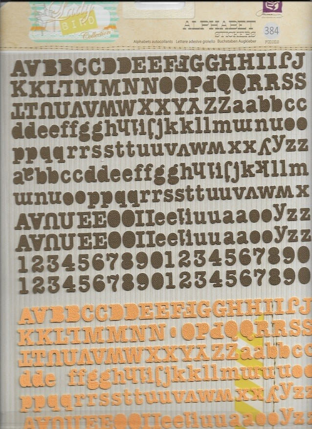 Prima - Ladybird Self Adhesive Canvas Alphabets - 384pc