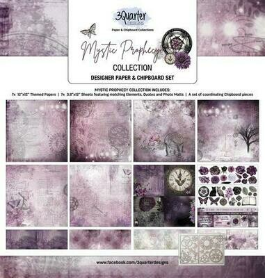 3 Quarter Designs 12 x 12 Collections -Mystic Prophecy