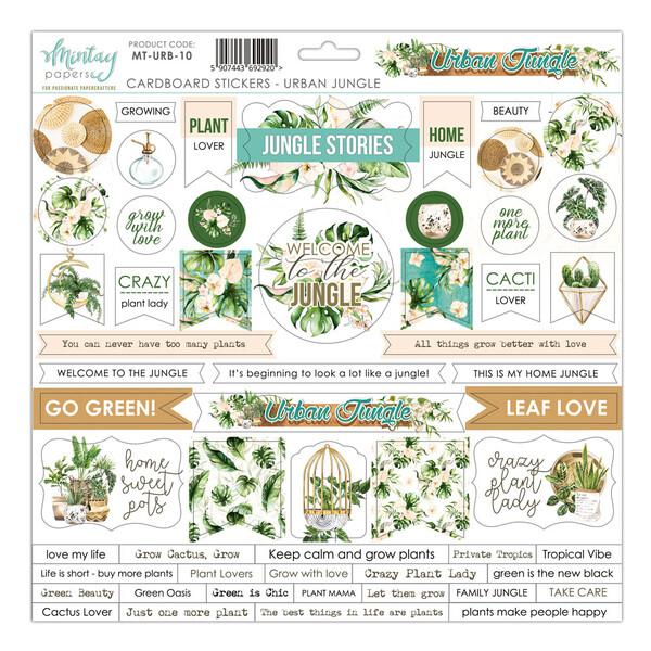 "Mintay by Karola  - Urban Jungle Collection - Cardboard Stickers -12"" x 12"" Sheet"