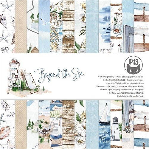 "P13 - Beyond The Sea 6"" x  6"" Scrap pad"